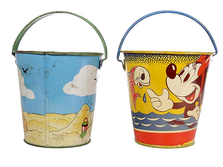 Large Collection of Antique Toy Pails For Sale 2