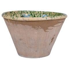 Large Colorful Glazed Terracotta Passata Bowl