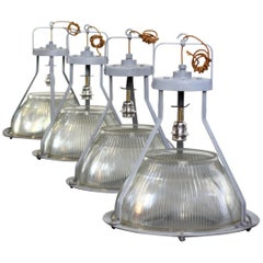 Large Concord Factory Lights, circa 1950s
