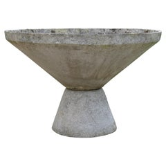 Large Concrete Board Conical Planter, 1970s