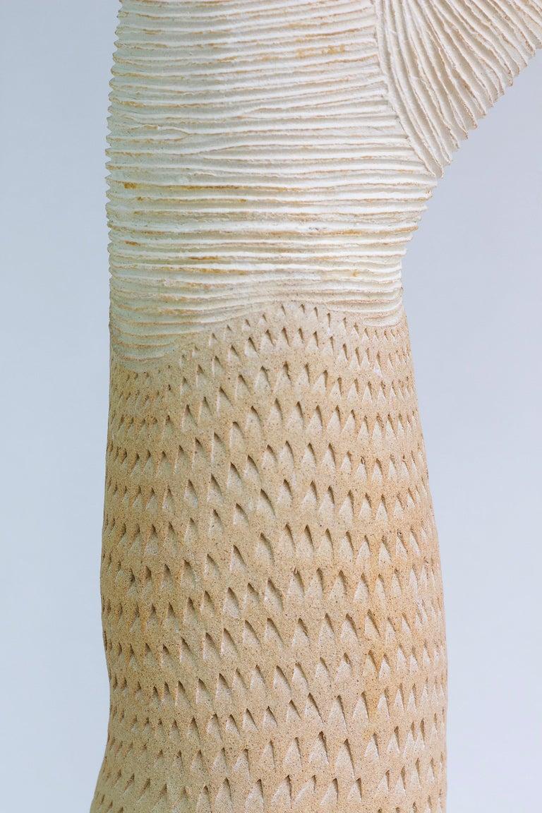 Stoneware Large Contemporary Ceramic Coral Sculpture, Grand Corail For Sale