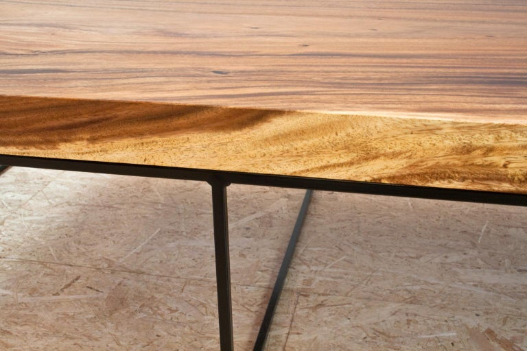 Stupendous Large Contemporary Coffee Table In Suar And Black Metal Dutch Modern Design Gmtry Best Dining Table And Chair Ideas Images Gmtryco