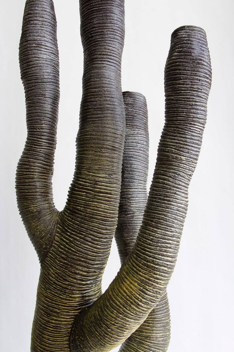 Large Contemporary Green Ceramic Tree Sculpture, Arbre Vert In New Condition For Sale In Mareil-Marly, Yvelines