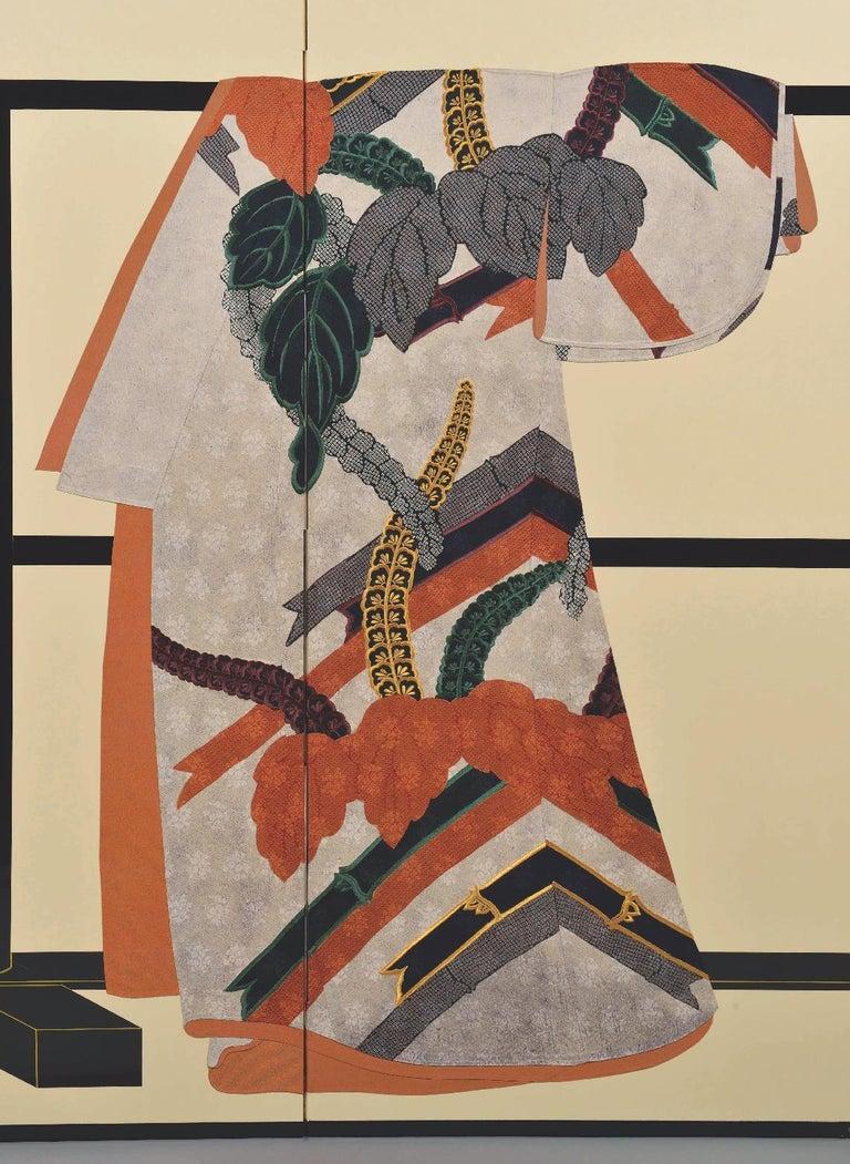 Unique exquisite Japanese contemporary two panel