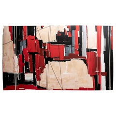 Large Contemporary Mixed-Media, Abstract Composition by Teri Stern