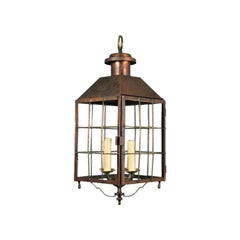 Large Nautical  Copper and Brass Lantern