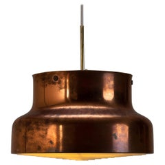 Large Copper Bumling Pendant Light by Anders Pehrson for Ateljé Lyktan, Sweden