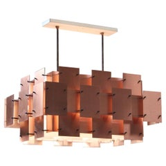 Large Copper Chandelier by Robert Sonneman