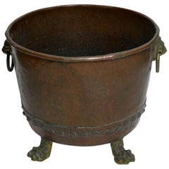 Large Copper Coal Firewood Holder or Planter, Dutch, circa 1800