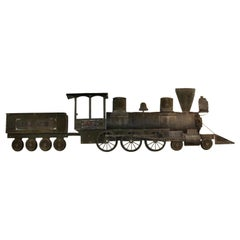 Large Copper Train Wall Model Antique