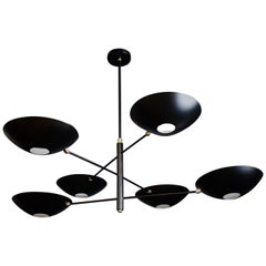 Large Counterbalance Ceiling Fixture in Matte Black Made by Blueprint Lighting