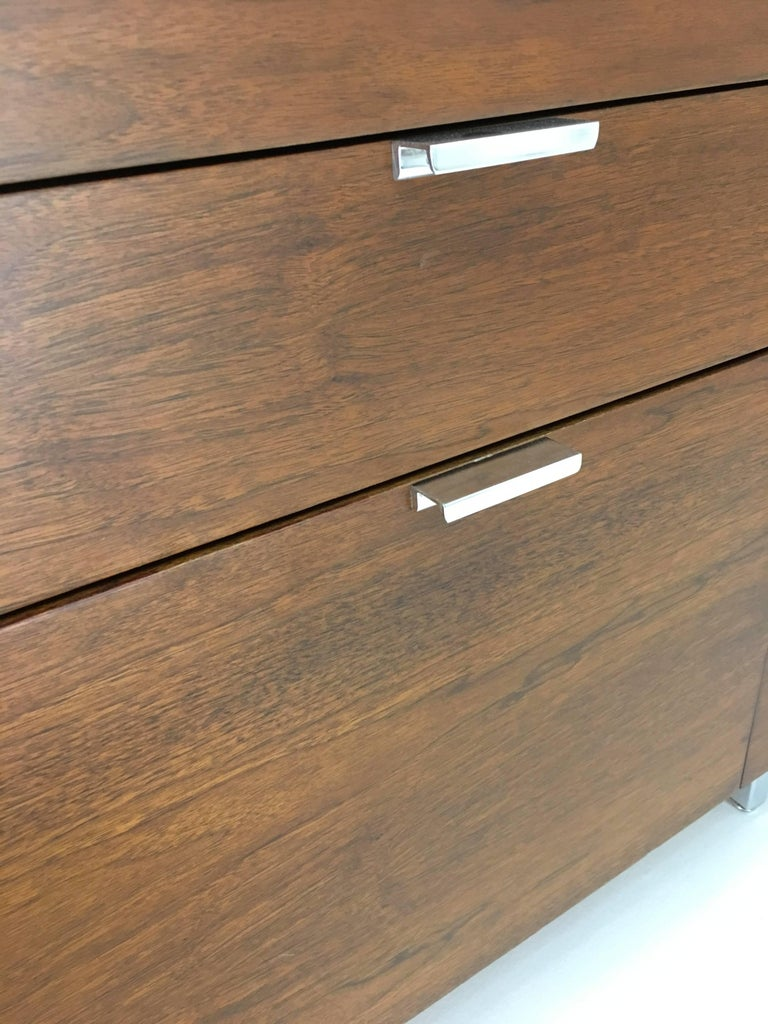 Walnut Large Credenza Cabinet by George Nelson for Herman Miller For Sale