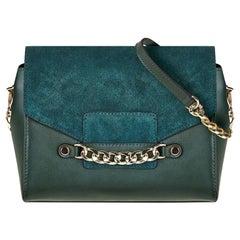 Large Crossbody - Mallard Green Saffiano Leather