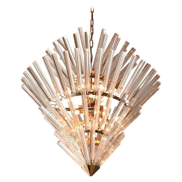 "Large ""Crown of Thorns"" Chandelier Murano, 1970s For Sale"