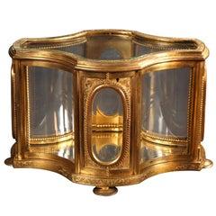 Large Crystal and Bronze Display Case l'Escalier de Cristal