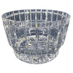 Large Crystal Serving Centerpiece Fruit or Dessert Bowl