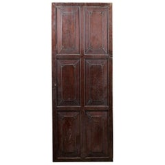 Large Cupboard Door with Carved Panels, 20th Century