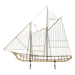 Large Curtis Jere Sailboat Sculpture, circa 1970s