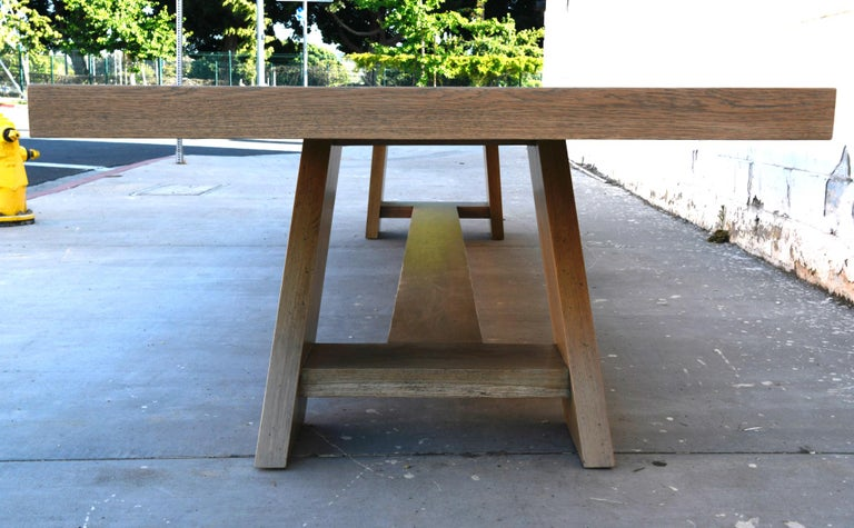 Large Custom Banquet Table Made from Rift Sawn White Oak For Sale 4