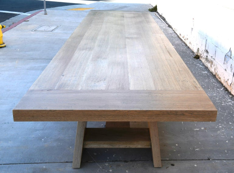 Large Custom Banquet Table Made from Rift Sawn White Oak For Sale 5