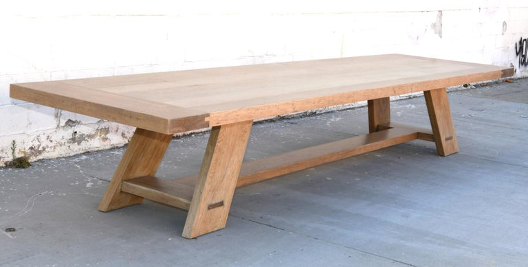 This oak banquet table is seen here in 180