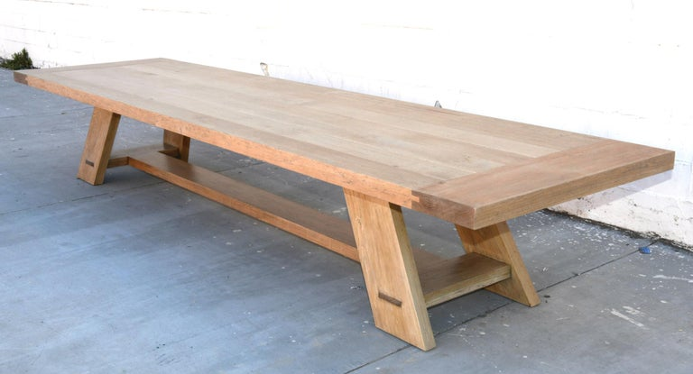 American Large Custom Banquet Table Made from Rift Sawn White Oak For Sale
