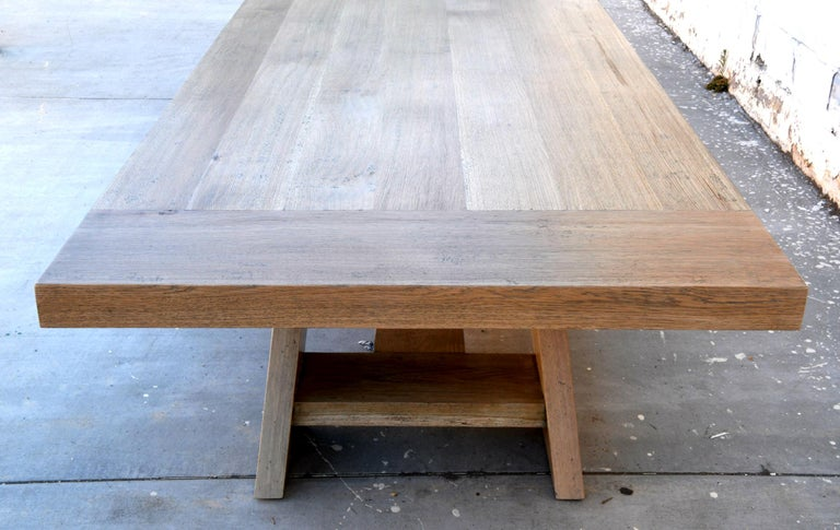 Large Custom Banquet Table Made from Rift Sawn White Oak In New Condition For Sale In Los Angeles, CA
