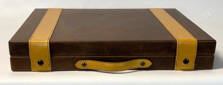 Large Custom Made Leather Backgammon Set 2
