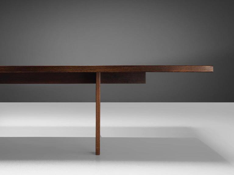 Scandinavian Modern Large Custom Made Wengè Table For Sale