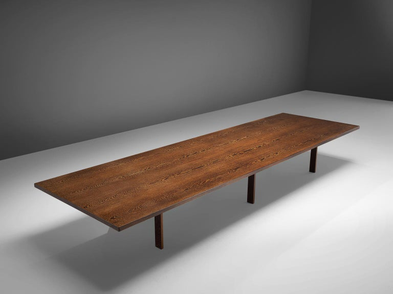 Danish Large Custom Made Wengè Table For Sale
