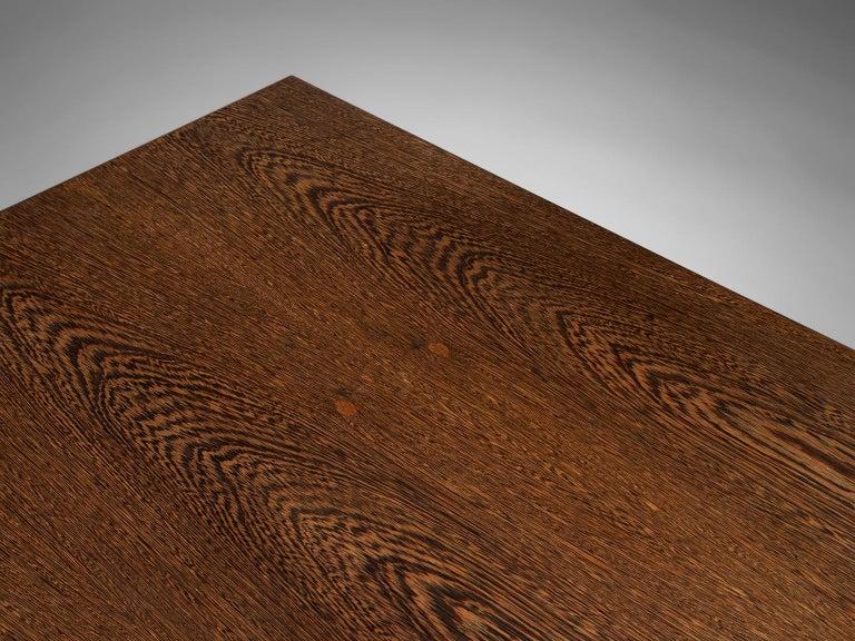 Veneer Large Custom Made Wengè Table For Sale
