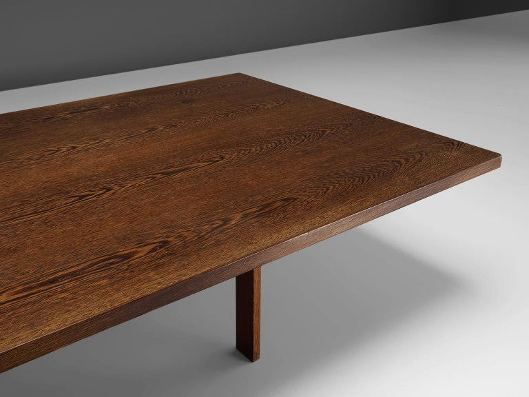 Mid-20th Century Large Custom Made Wengè Table For Sale