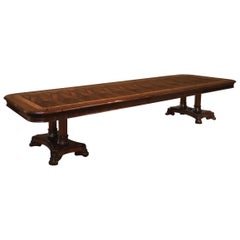 Large Custom Mahogany Regency Style Dining Table by Leighton Hall