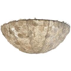 Large Custom Rock Crystal Basket Chandelier