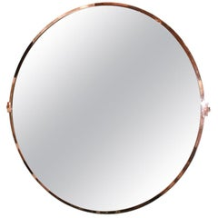 Large Custom Round Copper Mirror by Adesso Imports