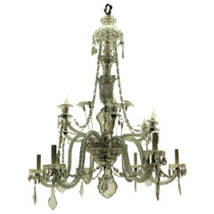 Large Cut-Glass Baccarat Chandelier