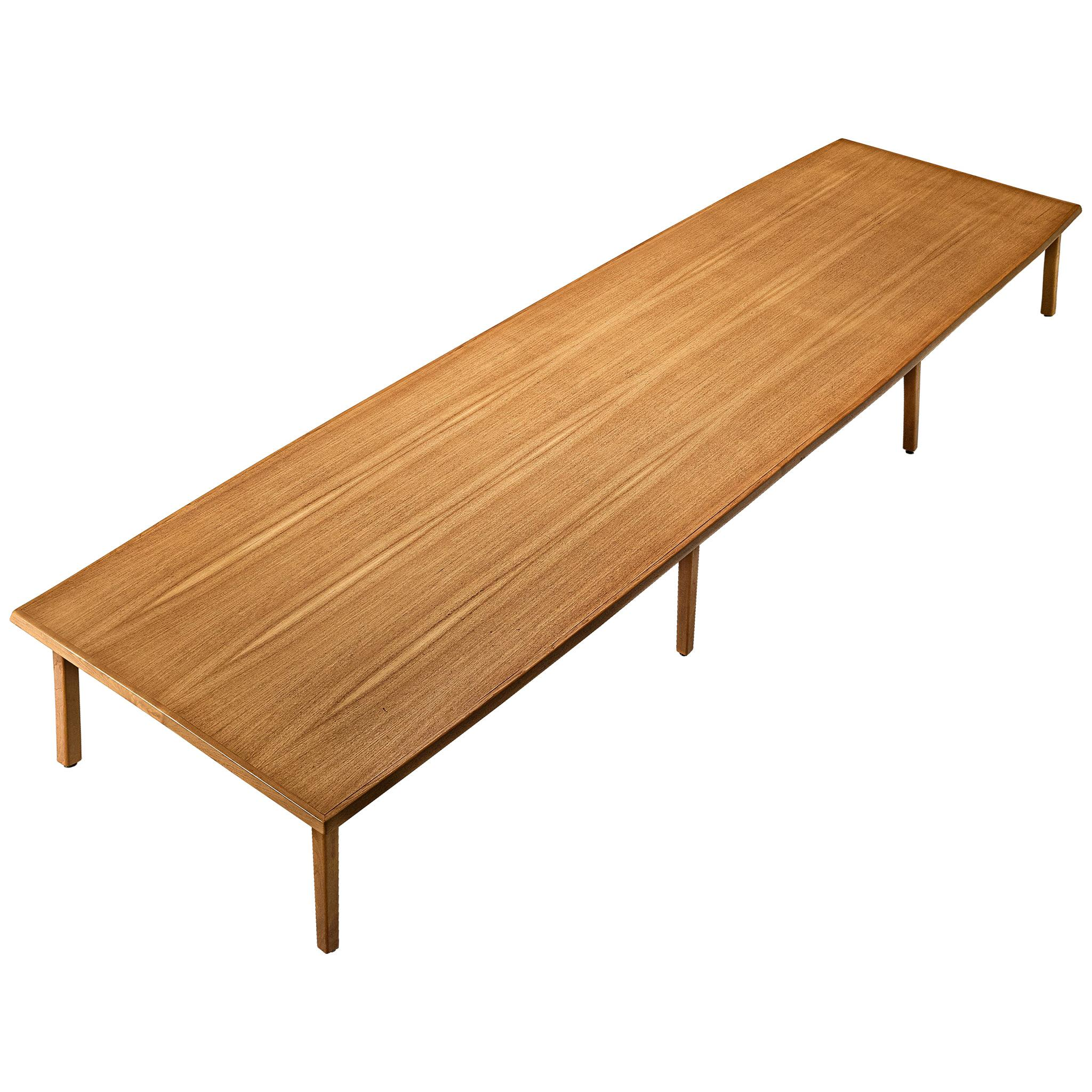 Large Danish Conference or Dining Table in Teak