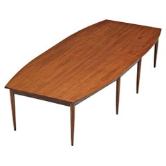 Large Danish Conference Table in Mahogany