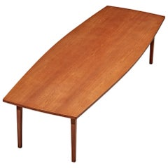 Large Danish Conference Table in Teak