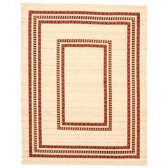 Large Danish Cotton and Wool Kilim Carpet