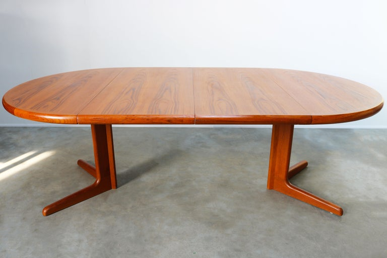Large Danish Dining Room Set by Niels Otto Møller Teak & Papercord Model 75 1950 For Sale 8