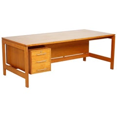 Large Danish Midcentury Writing Desk by Henning Jensen & Torben Valeur