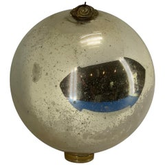 Large Danish Mirror Ball With Brass Hardware