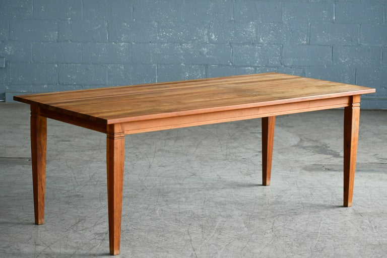 Mid-Century Modern Large Danish Modern Dining Table by Haslev Seats 10-12 People For Sale