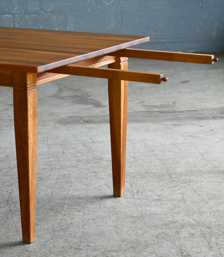 Late 20th Century Large Danish Modern Dining Table by Haslev Seats 10-12 People For Sale