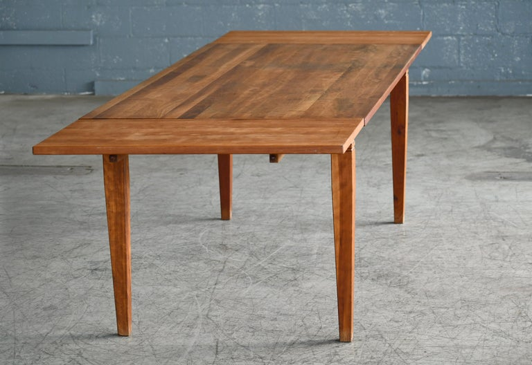 Large Danish Modern Dining Table by Haslev Seats 10-12 People For Sale 2