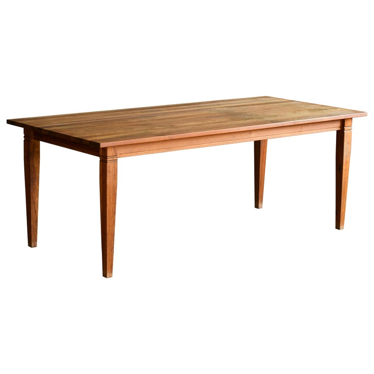Large Danish Modern Dining Table by Haslev Seats 10-12 People For Sale