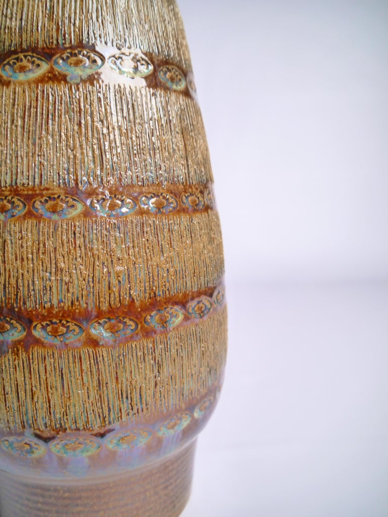 Mid-Century Modern Large Danish Modern Soholm Ceramic Vase, 1960s For Sale