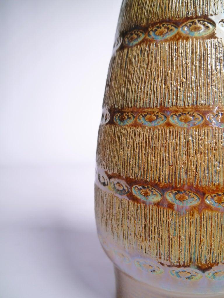 Glazed Large Danish Modern Soholm Ceramic Vase, 1960s For Sale