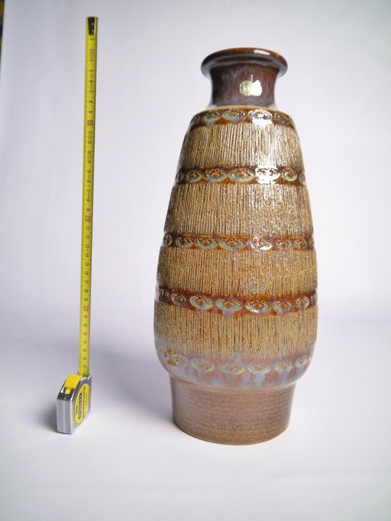 Large Danish Modern Soholm Ceramic Vase, 1960s In Good Condition For Sale In Barcelona, ES